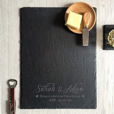 engraved cheese board custom personalized slate cutting boards wedding gifts
