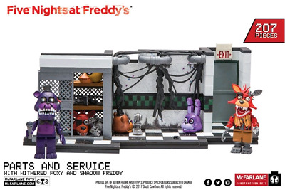 Brand NEW Five Nights at Freddy's Parts and Service Medium Construction Set FNAF