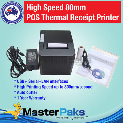 High Speed 80mm POS Thermal Receipt Printer / Auto Cutter/ USB/Ethernet/Serial