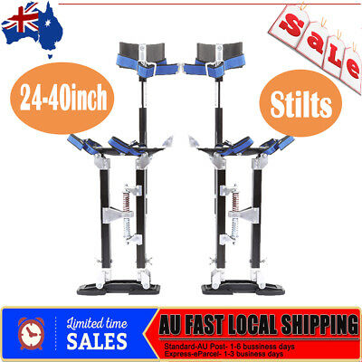 "24-40"" Adjustable Aluminum Plastering Stilts Drywall Tools Painter Builders Hot"