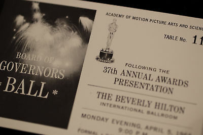 1965 TICKET Academy Awards Governors Ball Walt Disney Julie Andrews Mary Poppins