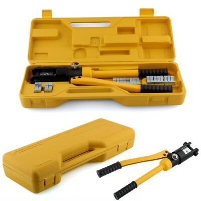 8t hydraulic crimper tool kit tube terminals lugs battery wire crimping force picclick uk. Black Bedroom Furniture Sets. Home Design Ideas
