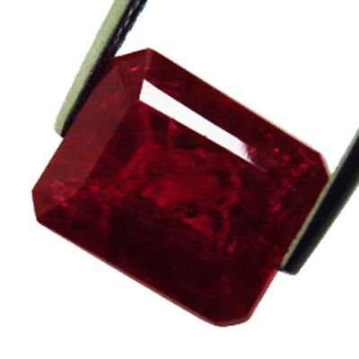 12.75 CT RARE AWESOME! PIGEON BLOOD RED RUBY CHATAM octagon  GEM 11x14MM
