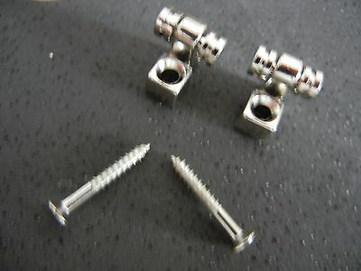 1 Set Of 2 Roller Tele / Strat String Trees With Screws Brand New