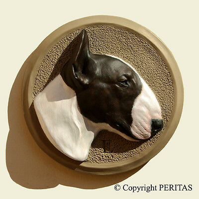English Bull Terrier dog Bully Bullterrier PERITAS wall sculpture statue art