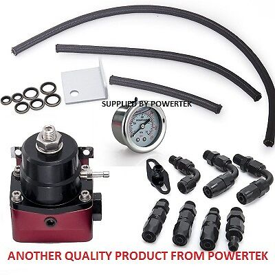 160 psi Universal Adjustable Fuel Pressure Regulator Kit FPR AN6 -6 Black
