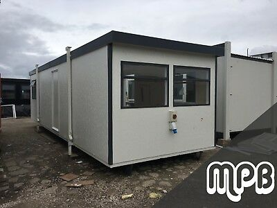 Refurbished 32ft x 10ft Portable Building Office Site Cabin - 12 month warranty