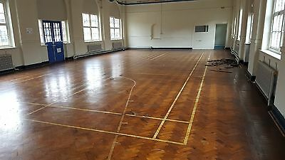 Reclaimed Pitch Pine Parquet Flooring From Old School Gymnasium Good Condition