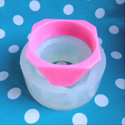SILICONE BANGLE MOULD - Chunky Hexagon Trapezium Resin Jewellery Mold Jewelry
