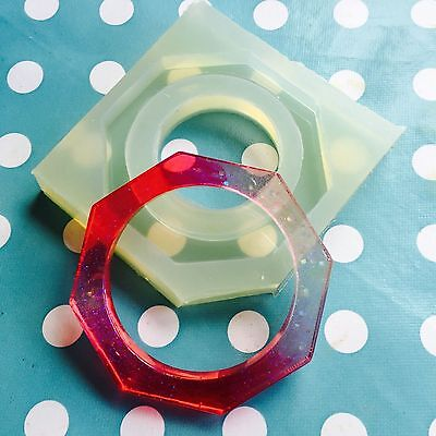 SILICONE BANGLE MOULD - Octagon Hexagon Resin Jewellery Making Mold Jewelry