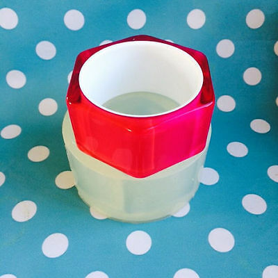 SILICONE BANGLE MOULD - Chunky Hexagon Flat Resin Jewellery Making Mold Jewelry