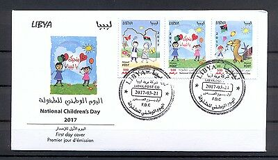 Libya 2017 - FDC - National Children's Day - MNH** Excellent Quality