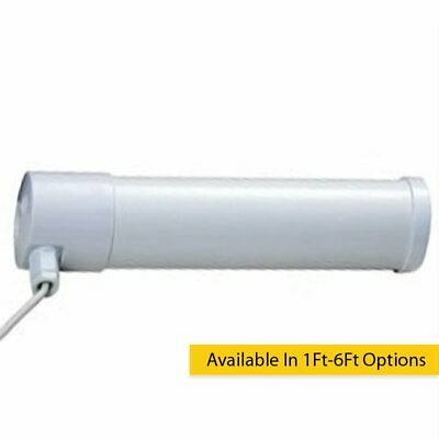 BLANCO IP44 eléctrico termostático Tubular Calefactor Disponible 0.3m to 6ft