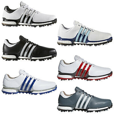 Adidas Mens Tour360 2.0 Golf Shoes - New Waterproof Climaproof Leather Boost