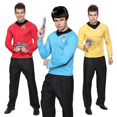 Männer Uniform STAR TREK Uniform Langarm T-Shirt Kostüm Science Officer Fasching