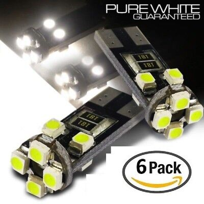 6x CanBus LED No Error 6000k HID White T10 w5w 501 194 Parking Bulbs Side Lights