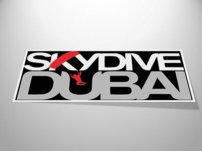 """Skydive Dubai"" Sticker x2 NEW Skydiving/Parachuting Airborn Dropzone"