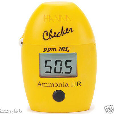 Medidor de Amoníaco Digital Hanna Checker Rango Alto (HI 733)