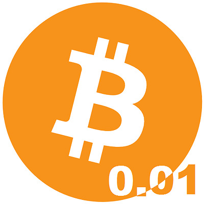 0.01 Bitcoin - Direct To Your Wallet - Crypto Currency - Digital Money - Btc