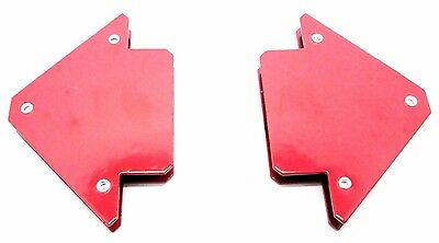 25lb Small Welding Magnet x 2 Right Angle Square Holder Soldering Durable WH033
