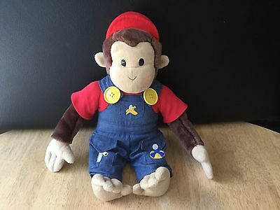 "Curious George 15"" Plush Monkey in Hat & Overalls HMCO"