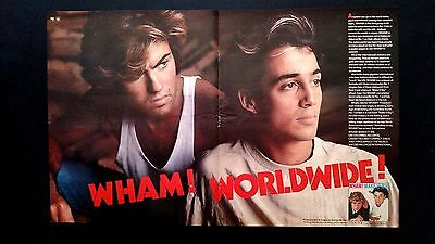"Wham ! George Michael ""make It Big""  (1985 ) Rare Original Print Promo Poster Ad"