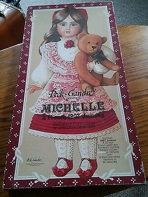 015 Vintage 1983 Peck Gandre Paper Doll Set Michelle French 1907 Jumeau Unused