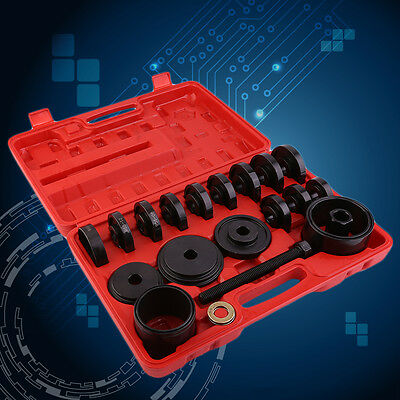 23pc FWD Front Wheel Drive Bearing Removal Adapter Puller Pulley Tool /W Cas Kit