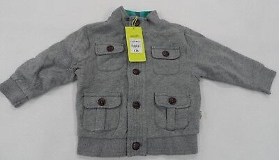 Ted Baker Grey Button Coat Jacket Sweatshirt Baby Clothes 12-18 Months £26 RRP