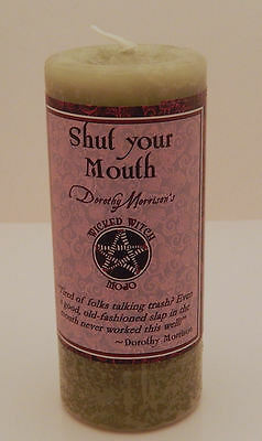 4 Pack SHUT Your Mouth MOJO Candle Coventry Creations Wicked Witch Wicca Pagan