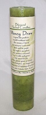 4 Pack MONEY DRAW Candle Wiccan Pagan Coventry Creations Blessed Herbal candles