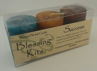 SUCCESS Candles - Coventry Creations BLESSING KIT Magick Wicca Pagan votives