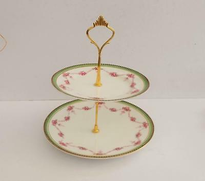 Vintage H.M.Williams Hand Painted 2 Tier Cake Stand.c.1912-1928.