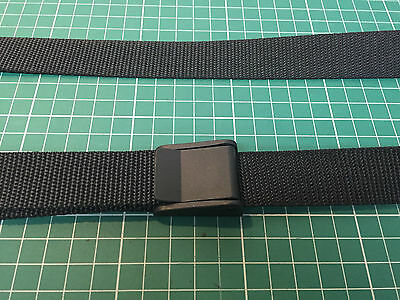Lightweight Webbing Trouser Belt with Cam-Lever Buckle (cut to your own size)