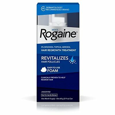Men's Rogaine Hair Loss & Regrowth Treatment Minoxidil Foam One Month Supply