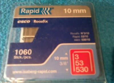 Tacker Klammern Typ 3/53/530 ORIGINAL RAPID 10mm / 1060 STK / 1X PACKUNG