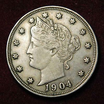 USA Liberty nickel 5 cents 1904 - very nice grade