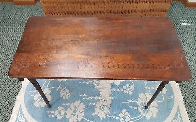Antique Seamstress Table 19th Century Folding Wooden Sewing Table