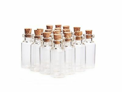 Small Glass Mini Bottles 5ml Message Bottles Spice Storage Glass with Via... New
