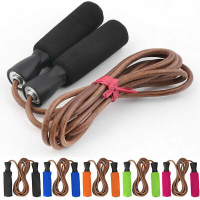 Leather Skipping Speed Rope Fitness Boxing Jump Gym Jumping Aerobic MMA Workout