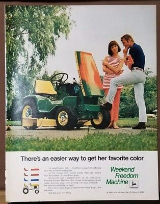 John Deere Lawn Tractor - additional colors for wife - Sexist Ad