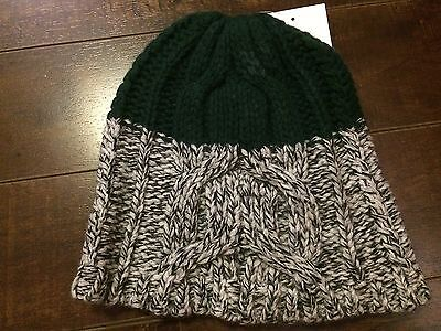 VERLOOP Kids Girl's Wool Blend Knit Green Beanie Hat - One Size - NWT