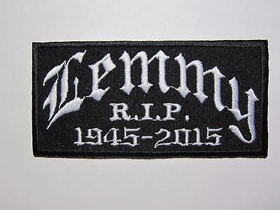 LEMMY 1945-2015 Motorhead embroidered NEW patch