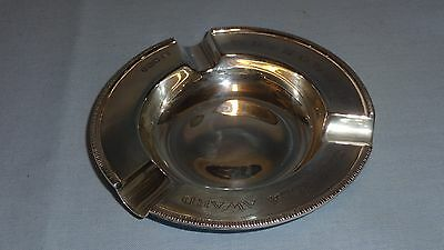 Heavy Quality Solid Sterling Silver Ashtray Cigar Ash Tray - WD & HO Wills
