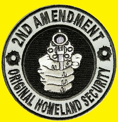 2nd Amendment Original Homeland Security. Patch écusson thermocollant aufnäher.