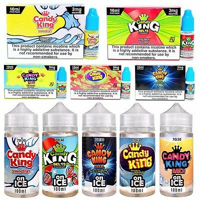 Candy King Premium American E Liquid Vape E Juice All Flavours All Strengths!