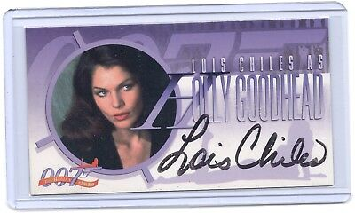 Women of James Bond Lois Chiles ( Holly Goodhead ) wide autograph auto card #A32