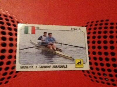 #99 Giuseppe Carmine Abbagnale / Rowing / Italy / Panini Supersport sticker 1988