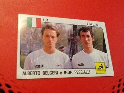 #104 Alberto Belgeri Igor Pescialli / rowing / Panini Supersport sticker 1988