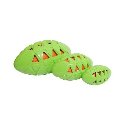 Tough Crunch Rugby Ball Small Medium Large Dog Puppy Pet Toy